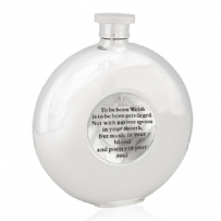 To Be Born Welsh Round Flask